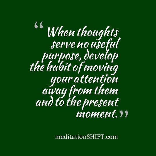 meditationSHIFT attention quote